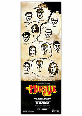 THE MONSTER CLUB horror movie art print poster. Vincent Price