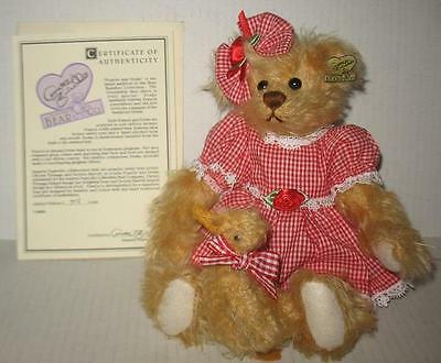 Annette Funicello Francis & Drake Duck Bear Buddies Collection Mohair Red Check