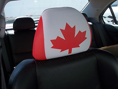 Canada Car/Auto Headrest  Flags/Covers-----2 PIECES