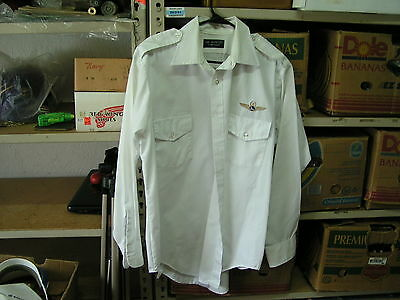 Vintage Eastern Airlines aviation airplane captain shirt 15 1/2 size 34 lot#2