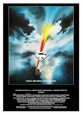 Superman The Movie (Classic) - A1/A2 POSTER **BUY ANY 2 AND GET 1 FREE OFFER**