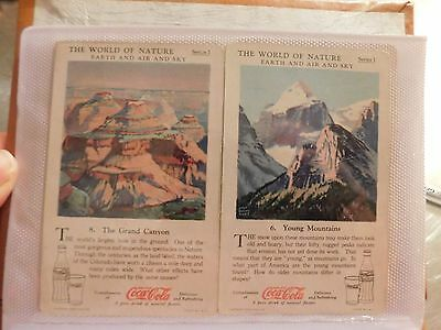 Lot of 87 vintage Coca Cola cards The world of nature