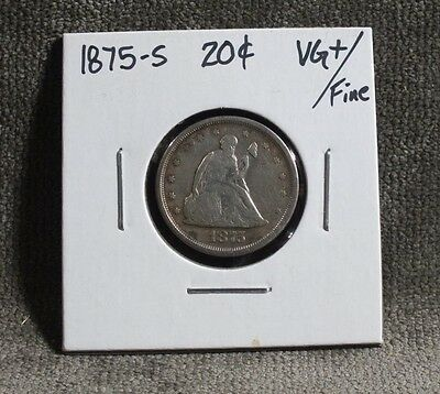 1875-S Seated Liberty 20 Cents 20C VG+/F C3