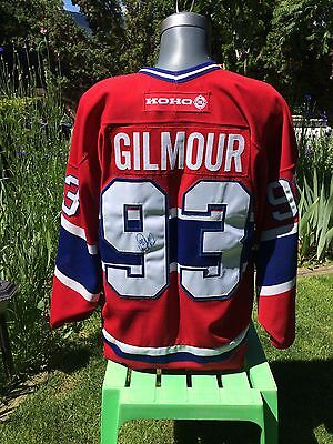 Doug Gilmour 93 Signed Montreal Canadiens Koho Jersey Adults Large