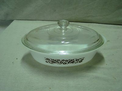 """Vintage 1 Qt. Glasbake Ovenware Casserole Dish With Lid Approx. 2 1/2"""" x 10"""""""