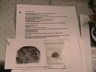 2 To 5 Thousand Yr Old Silver Coin, Rare
