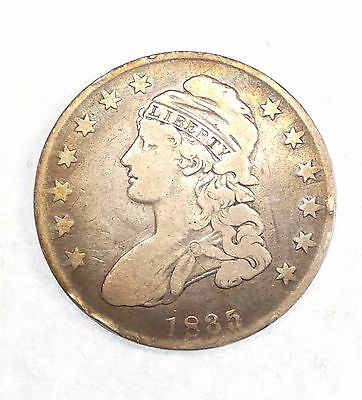 BARGAIN 1835 Capped Bust/Lettered Edge Half Dollar VERY GOOD Silver 50c