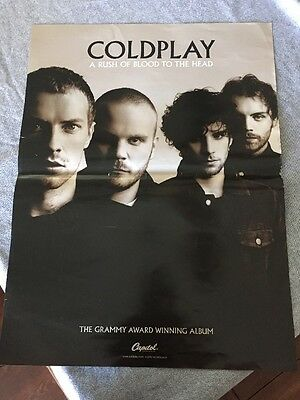 Coldplay Poster: A Rush Of Blood To The Head Band Shot, 24x18, 2003, Very Rare!