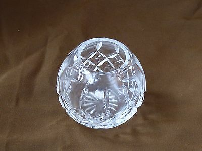 Beautiful cut glass crystal small vase excellent condition