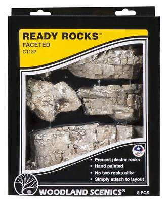 NEW Woodland Scenics Ready Rocks Faceted Rocks C1137