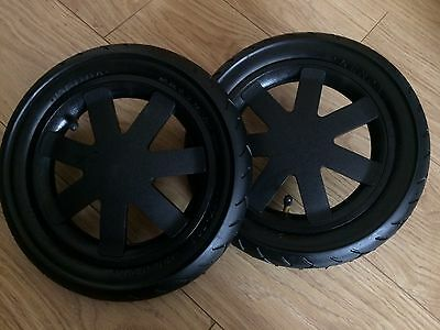 Quinny Buzz 3/4  Rear Back Wheels in Black Very Good Condition