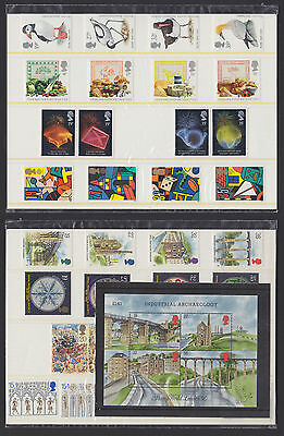1989 Complete Year (8 sets incl. Ind Arch MS) commemoratives mint MNH (sealed)