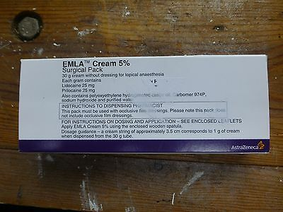 Emla Cream 5%. EXPIRE 2019. FOR TATTOO, ELECTROLYSIS OR OTHER COSMETIC TREATMENT
