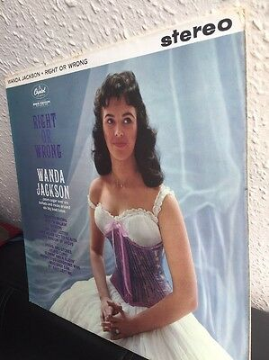 """Wanda Jackson: """"right Or Wrong"""" Uk ((Stereo)) Capitol-Impossible!! (1961) Look!!"""