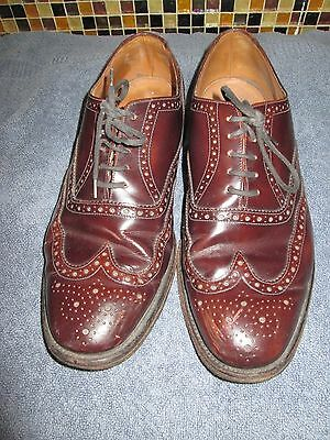 Loake Brown Leather Lace Up Shoes Size Uk 11 Eu 45.5