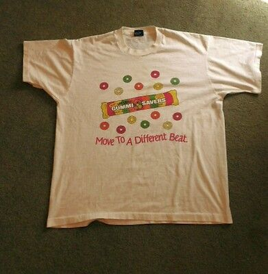 Vintage Life Savers Move To A Different Beat T-shirt Screen Stars Best XL