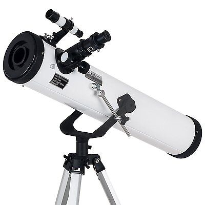 TOPMAX astronomical Reflector Telescope with Tripod and Eyepieces, 700-by-76 mm