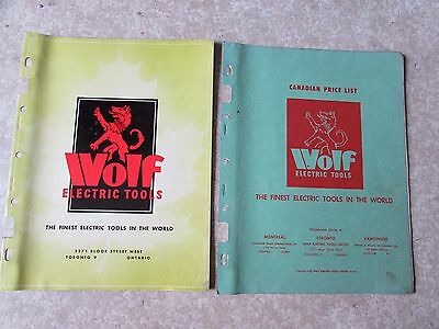 Vintage Wolf Electric Tools Catalog & Price List 1950 Old Garage Reference Item