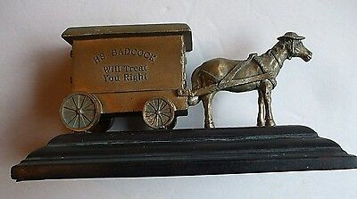 Badcock Home Furniture Horse Drawn Carriage 100 Years 1904-2004 Brass