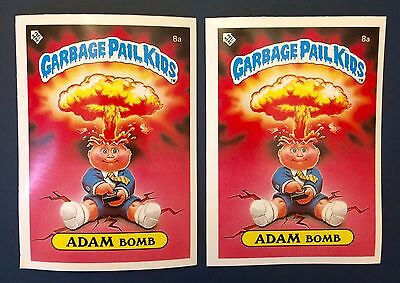 Adam Bomb 8a Garbage Pail Kids ~ UK Series 1(1985)Both Variations ~ Average Cond