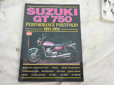 Suzuki GT750 Performance Portfolio - road tests etc