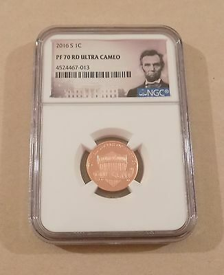 2016 S 1c LINCOLN SHIELD CENT PENNY PORTRAIT LABEL NGC PF70 RD ULTRA CAMEO