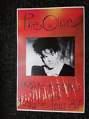 The Cure 11x17 Kissing tour concer poster lp Robert Smith