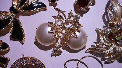 Vintage LOT - Sets, Rhinestones, Brooches/Pins (Signed), Necklaces