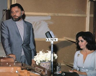 Elizabeth Taylor with Richard Burton During a Press Conference in Rome Photo