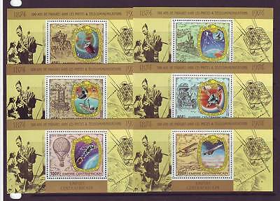 a109 - CENTRAL AFRICAN EMPIRE - SG556-561 MNH 1978 DELUXE MINIATURE SHEETS
