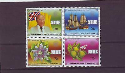 a130 - NIUE - SG475-478 MNH 1983 COMMONWEALTH DAY