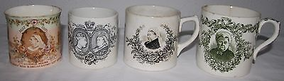 Queen Victoria Gold and Diamond Jubilee mugs x 4. Aynsley. Doulton.  R.H. Plant.