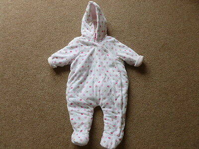 Mothercare Pink Girls Snowsuit 0-3 mths BNWOT