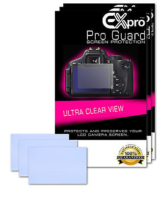 Ex-Pro® 3 x Pro Guard Ultra Clear View LCD Screen Protectors for Canon 6D