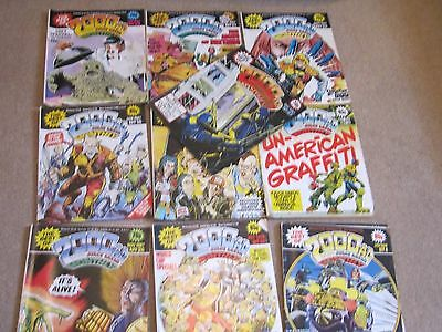 x11 THE BEST OF 2000AD COMICS  FEATURING JUDGE DREDD - JOB LOT