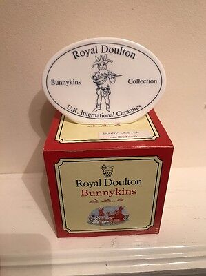 Royal Doulton Bunnykins ,limited Edition Of 1000 Jester Plaque