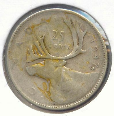 Canada 1947 Maple Leaf Silver 25 Cent Piece Canadian Quarter 25c EXACT COIN