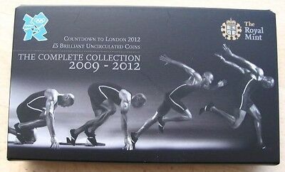 London Olympic 2012 countdown £5 Coin Full Set All 4 Coins