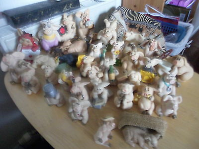 LARGE COLLECTION OF PIGGIN PIGS ( 29 + 3 OTHER TYPE ) + 4 FREE ( bargain price )