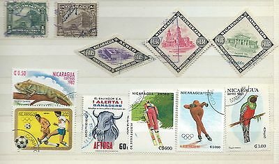 Nicaragua stamps. Small collection of used stamps. (T099)