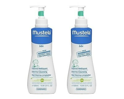 Mustela Dermo-Cleansing 2 x 500ml Tear Free Daily use NEW