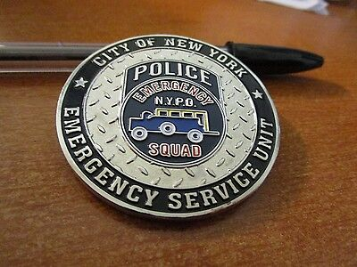 NYPD Emergency Service Unit Weapons of Mass Destruction NYC Challenge Coin #2126