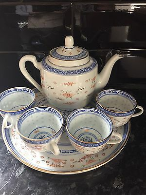 Traditional Chinese Tea Set Teapot Cups And Tray