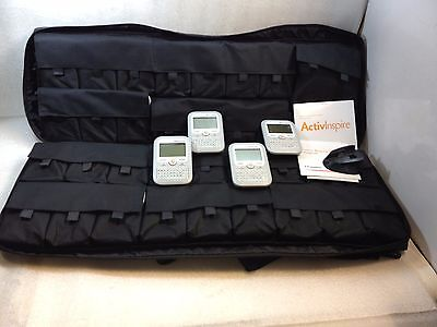 Lot of 32 Promethean PRM-AE2-01 ActivExpression Student Response Systems W/Bag