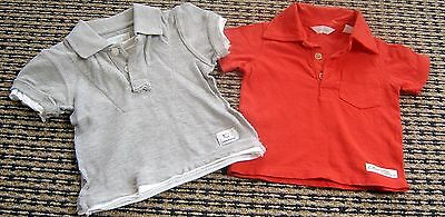 2 X Country Road Baby Boys Polo Tops Sz 0-3 Months