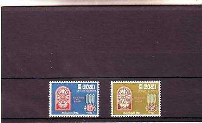 a123 - CEYLON - 475-476 MNH 1963 FREEDOM FROM HUNGAR