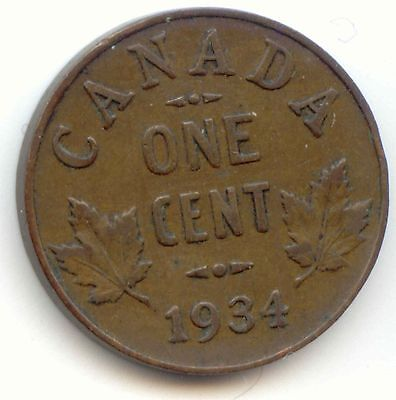 Canada 1934 Canadian PENNY one cent 1c EXACT COIN SHOWN