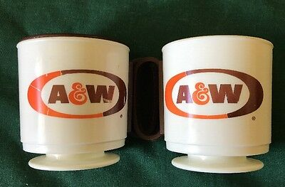 A&W Coffee Mugs, 1 With Lid, Whitley industries, Pennsylvania. Plastic.