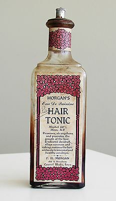 Antique/VTG Drug Store Pharmacy Apothecary Medicine Bottle HAIR TONIC RX473