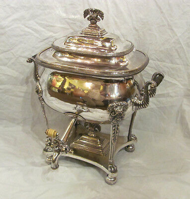 Antique English Sheffield Plate Hot Water Urn Circa 1810
